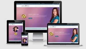 image of website we designed for Jessica Yaffa
